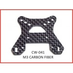 (CW-041) Losi Mini 8ight Front Shock Tower-M3 Carbon Fiber