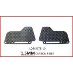 (CW-047) Losi 10 SCTE Carbon Fiber MUD GAURDS